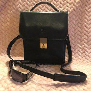 Longchamp Black Leather Shoulder Bag - Purse